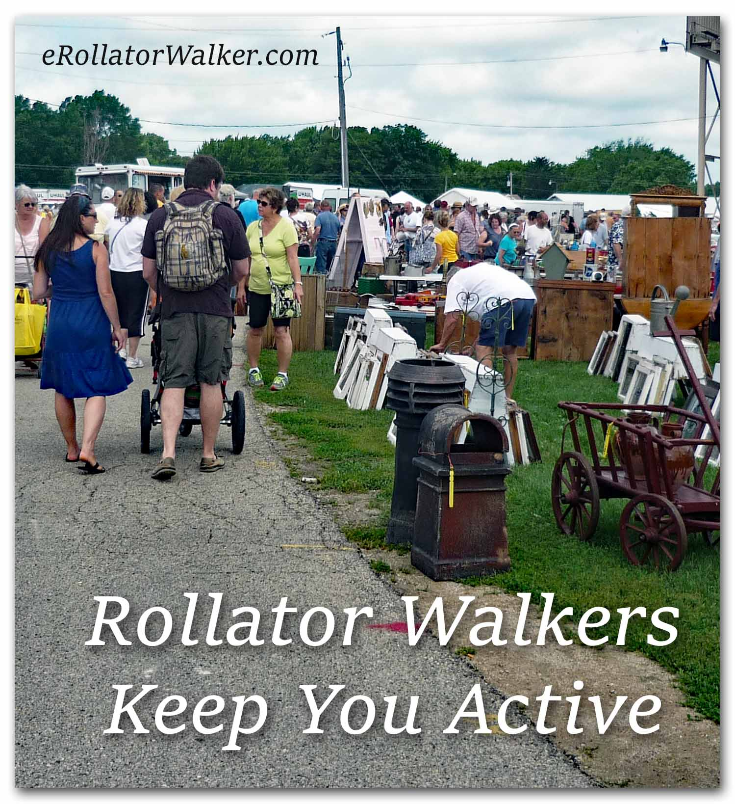 Rollator Walker for Outside